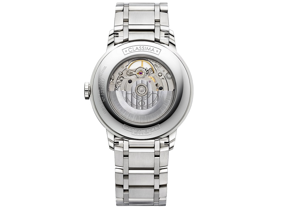 Baume et Mercier Classima 10275 back, steel bracelet