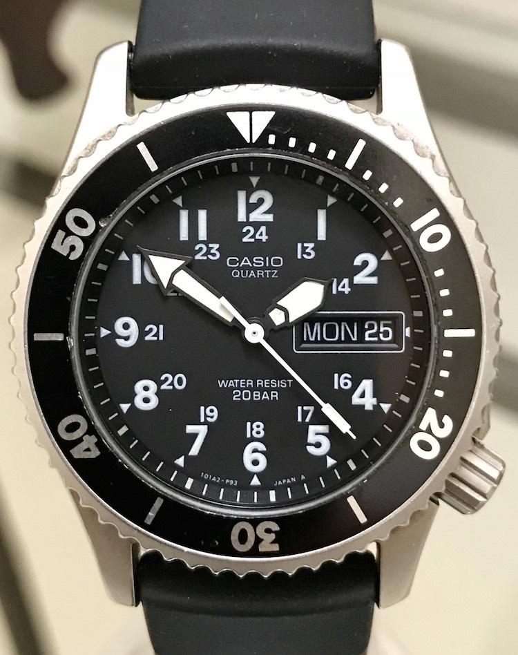 Fs casio md 707 military style quartz diver - Casio dive watch ...