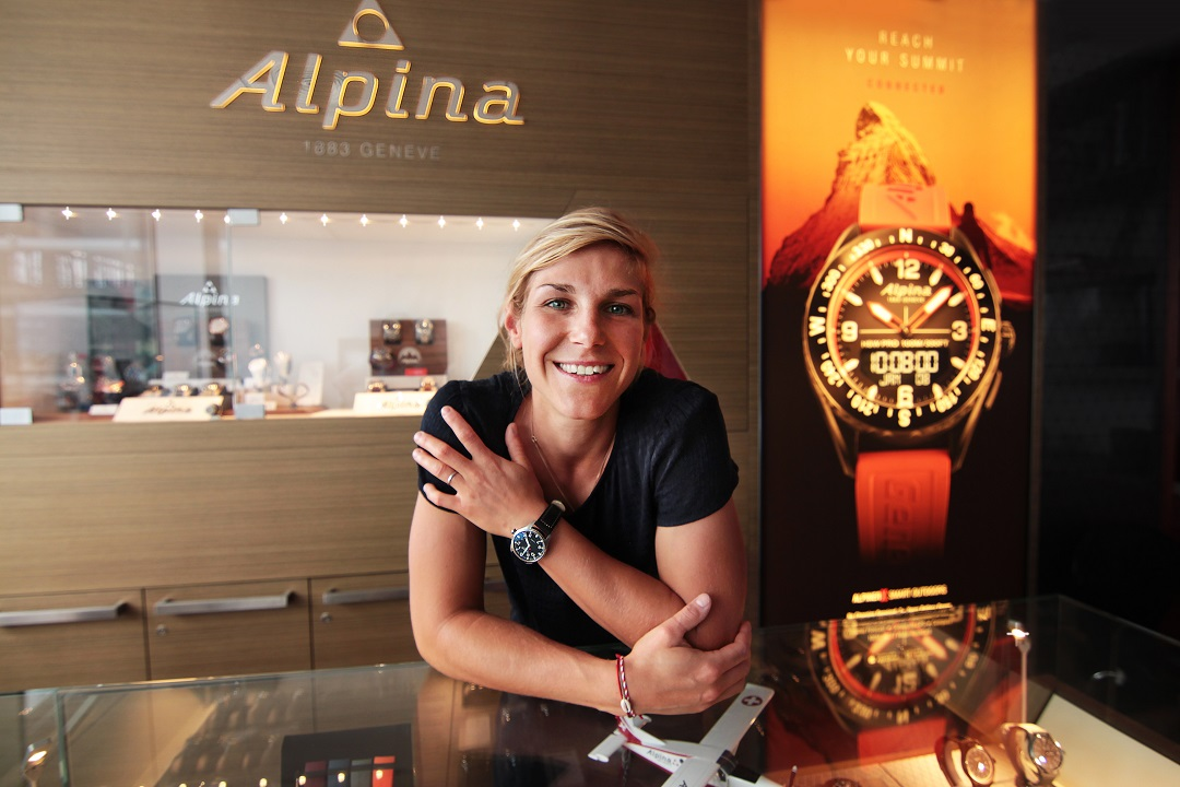 Alpina Watches Brand Ambassador: French FIS World Cup Snowboarder Nelly Moenne-Loccoz