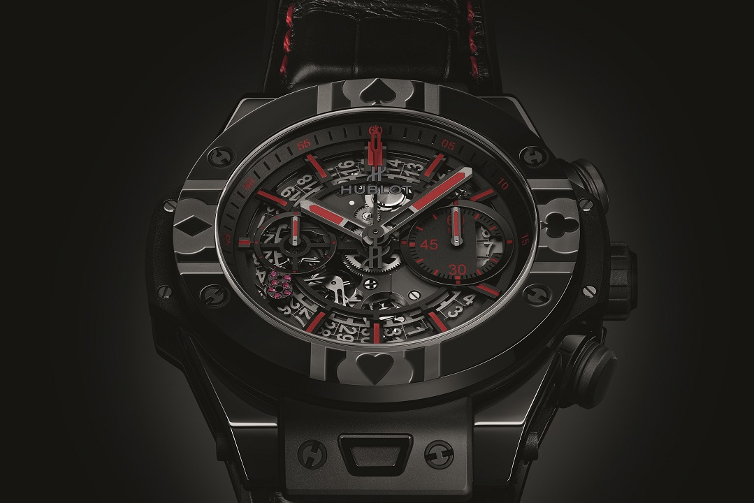 """Hublot, and World Poker Tour® (WPT®) began in 2014, when Hublot was named both """"Official Timekeeper"""" and """"Official Watch"""" of the premier name in internationally televised gaming and entertainment."""
