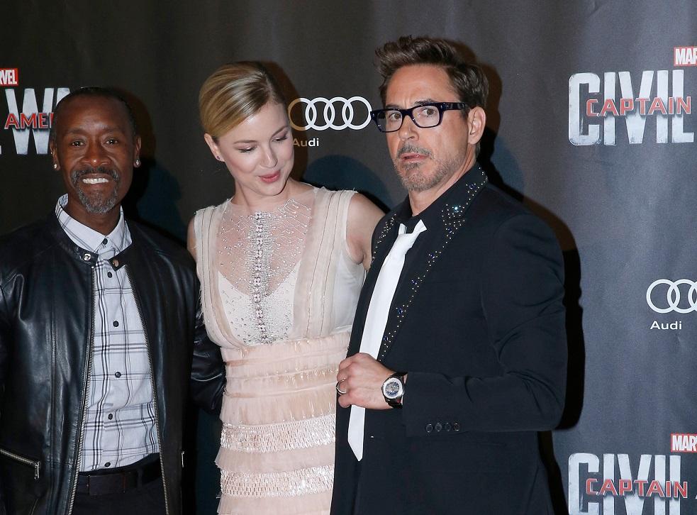 """attend the """"Captain America: Civil War"""" Paris Premiere. Held at Le Grand Rex on April 18, 2016 in Paris, France."""