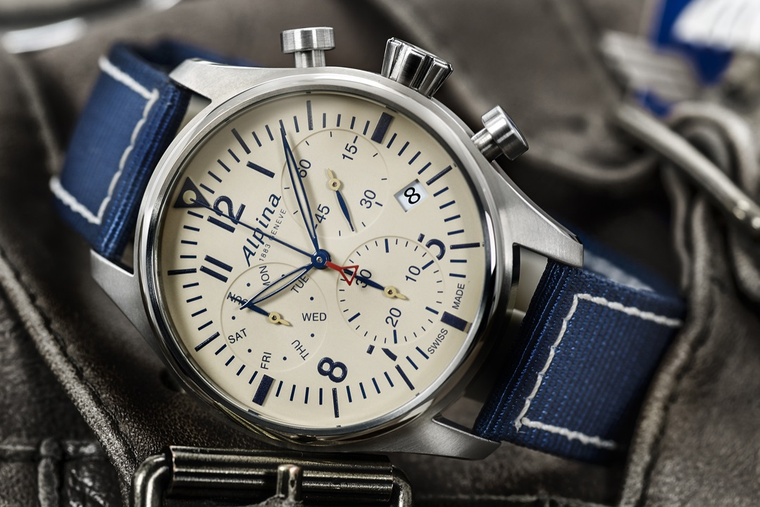 b47fd9f9015 Here's a photo of the new Alpina Startimer Pilot Chronograph Quartz which  will be presented this