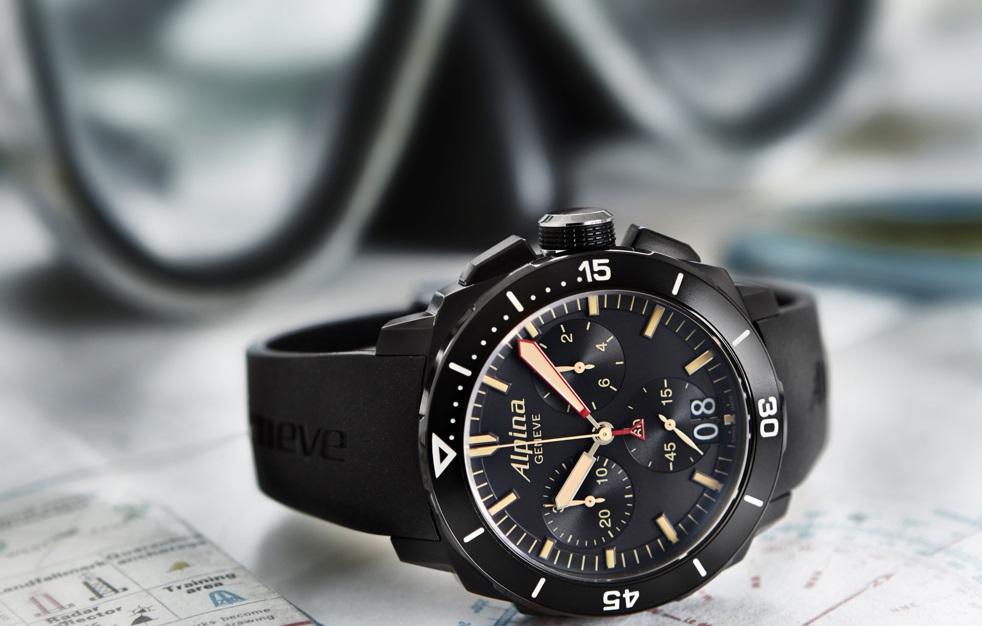 Alpina Seastrong Diver Chronograph Big Date Watchuseekcom - Alpina diver watch