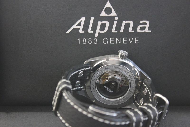 Name:  Alpina Startimer Classic (AL525SC4S6) on Rios1931 Black Aviator Buffalo leather strap from Panat.jpg Views: 53 Size:  103.7 KB