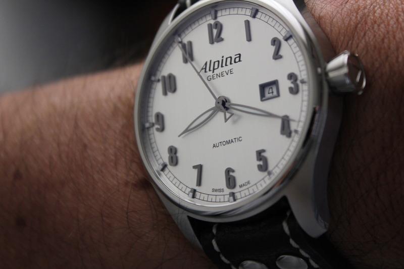 Name:  Alpina Startimer Classic (AL525SC4S6) on Rios1931 Black Aviator Buffalo leather strap from Panat.jpg Views: 50 Size:  76.5 KB