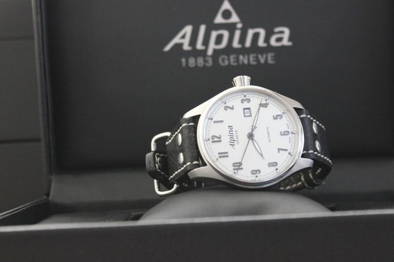 Name:  Alpina Startimer Classic (AL525SC4S6) on Rios1931 Black Aviator Buffalo leather strap from Panat.jpg Views: 53 Size:  76.2 KB