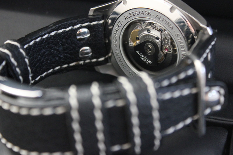 Name:  Alpina Startimer Classic (AL525SC4S6) on Rios1931 Black Aviator Buffalo leather strap from Panat.jpg Views: 52 Size:  99.7 KB