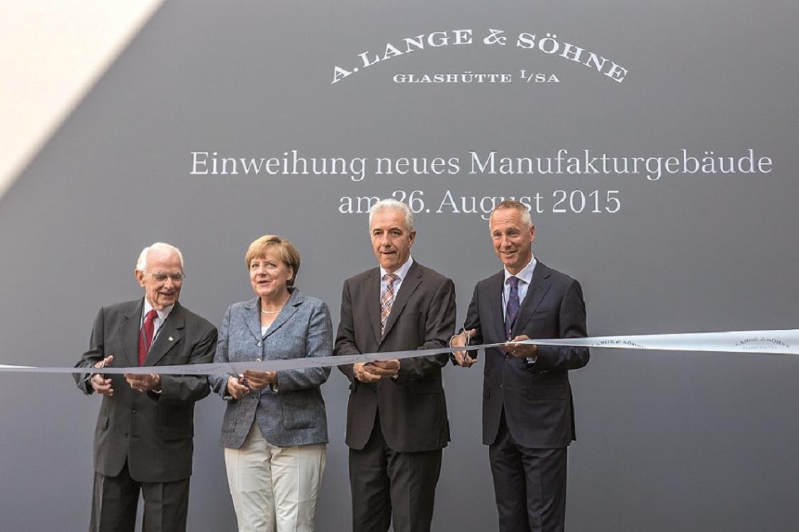 A.LANGE & S…HNE Manufactory Inauguration 26.08.2015 with Angela Merkel  - Glashuette - Photographer: Ben Gierig