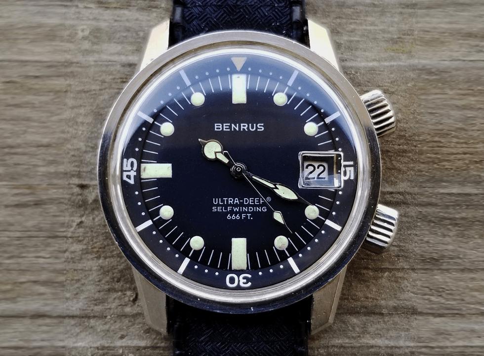benrus compressor Ultra Deep dive watch