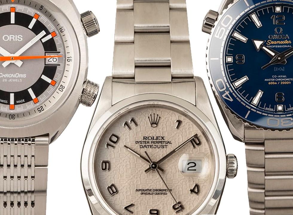 oris rolex omega watches