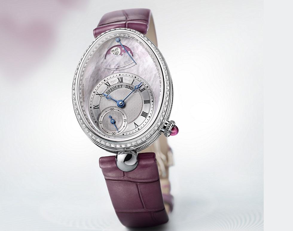 Breguet's Reine De Naples 2019: Pink Mother-Of-Pearl And Diamonds