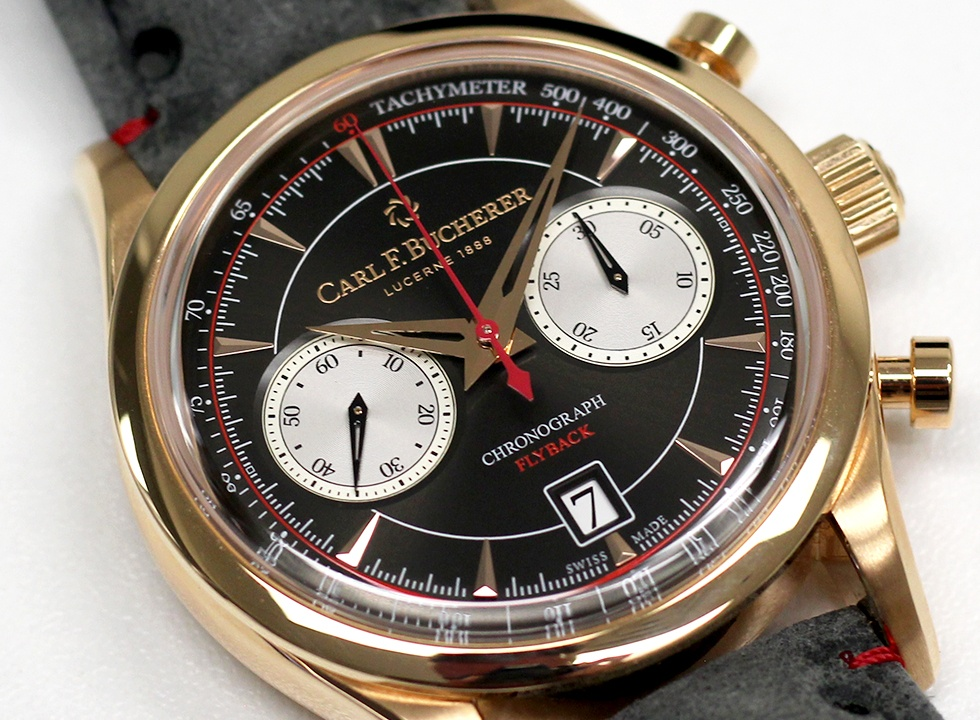 Carl F Bucherer Manero Flyback chronograph angle