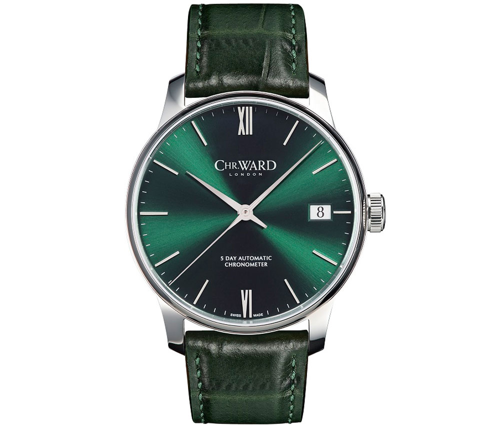 Christopher Ward C9 5-Day Automatic Galvanic Green LE watch