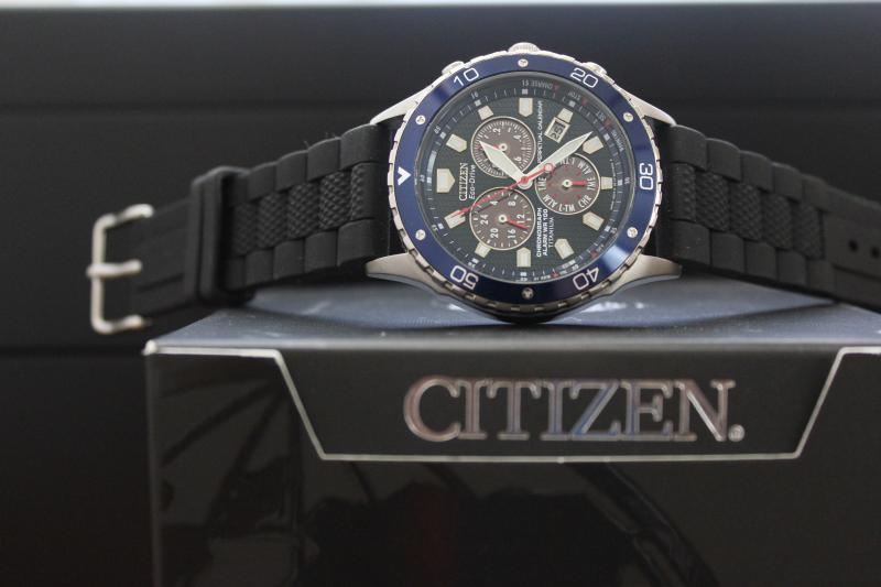 Name:  Citizen(BL5350-59L) on Hadley Roma Black Oyster Style silicon Panatime strap3.jpg Views: 71 Size:  38.6 KB