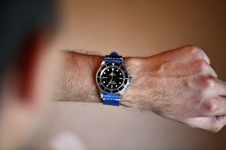 Name:  DaLuca Watch Strap Blue Latigo Rolex Submariner (Custom).jpg Views: 32 Size:  239.8 KB
