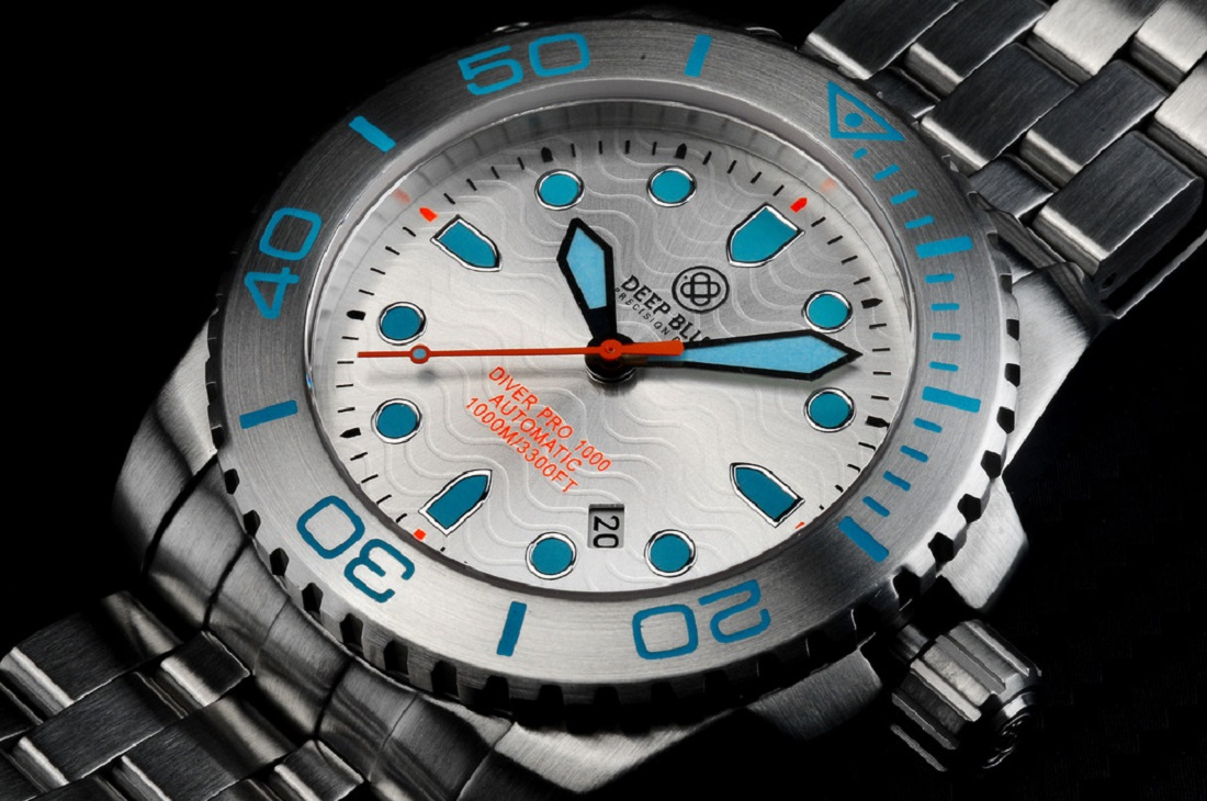Deep Blue Diver Pro 1000m Automatic - Silver - watchuseek.com