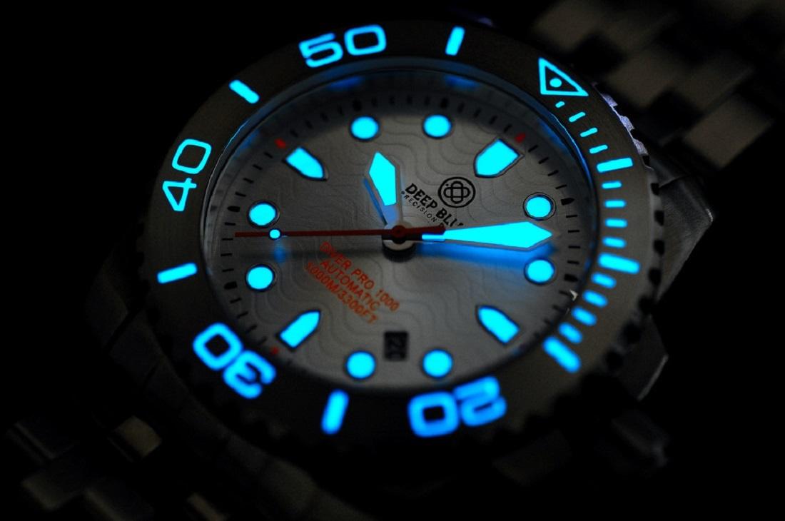 Deep blue diver pro 1000m automatic silver - Dive deep blue ...