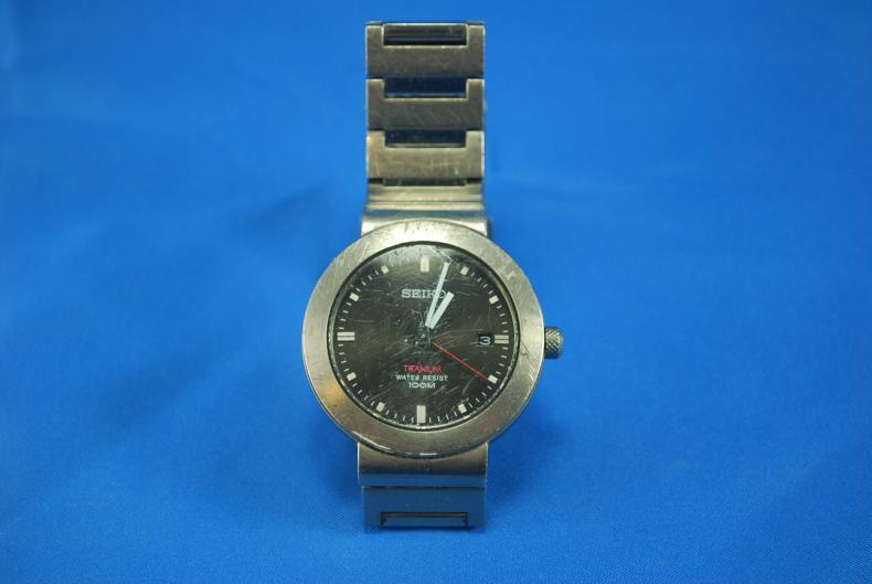 eBay - Seiko Titanium Nitride Quartz Mens Dress Watch SKP231
