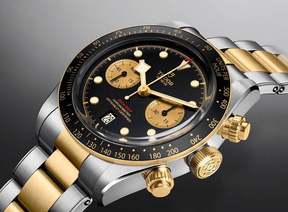 Tudor-black-bay-chrono-steel-gold