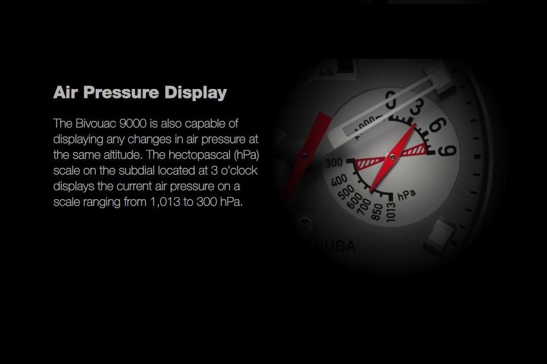 Favre-Leuba Bivouac 9000 air pressure