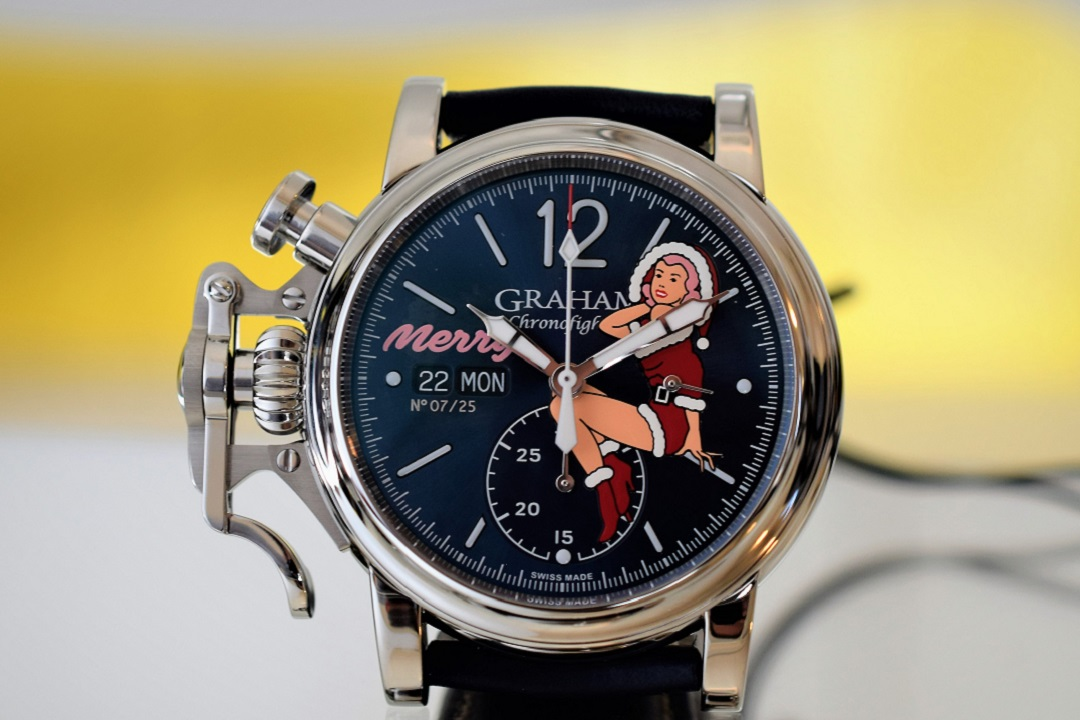 Meet Merry: Graham Chronofighter Festive Vintage Nose Art Limited Edition