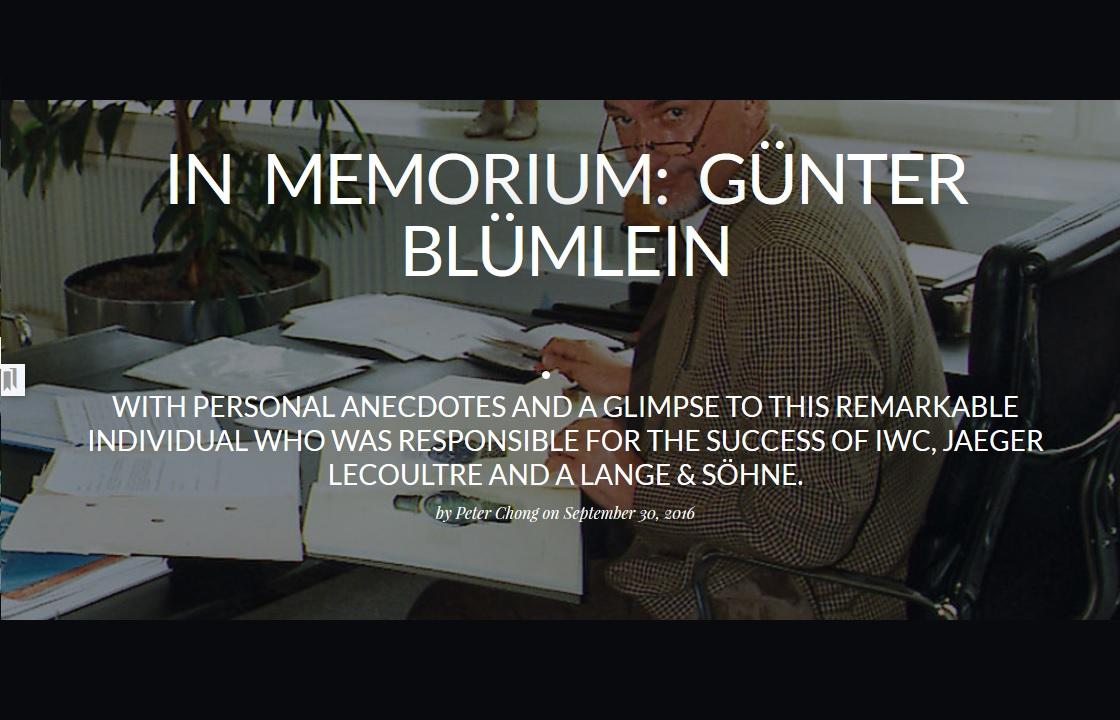 Gunther Blumlein