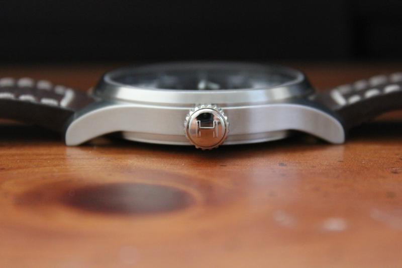 Name:  Hamilton Khaki Mechanical H696190 Dark Brown white stitch Panatime strap5.jpg Views: 70 Size:  23.7 KB
