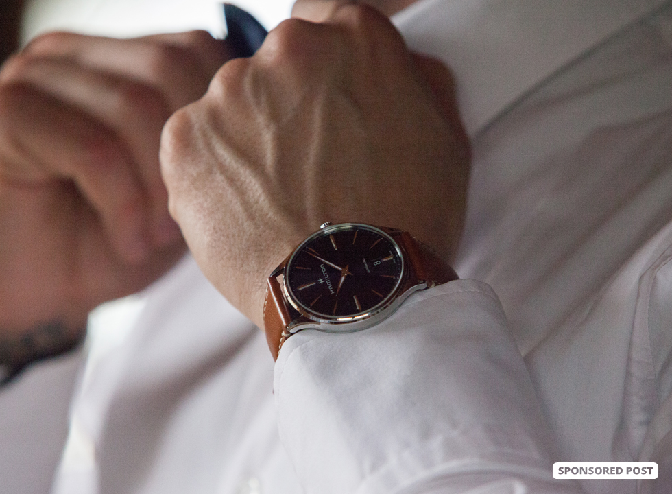 Hamilton Jazzmaster Thinline Automatic: Custom Tailor Outfits With EasyClick Leather Straps