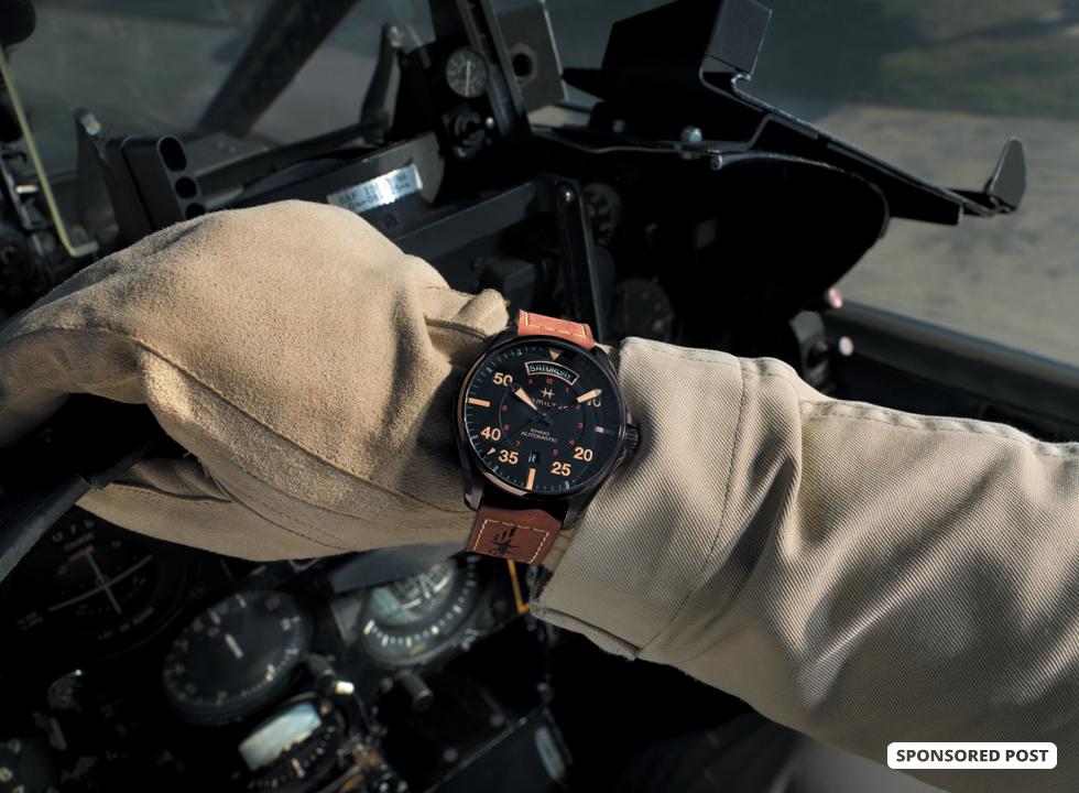 74fb002fb Cleared For Take Off: Hamilton Khaki Pilot Auto Day-Date ...