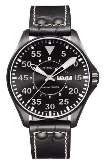 Black And Khaki. Hamilton Black PVD Khaki Pilot