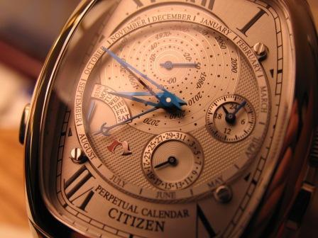 Citizen Campanola Tonneau Perpetual Calendar On eBay: Ends Nov 18 07 19:00:00 PST   sales auctions