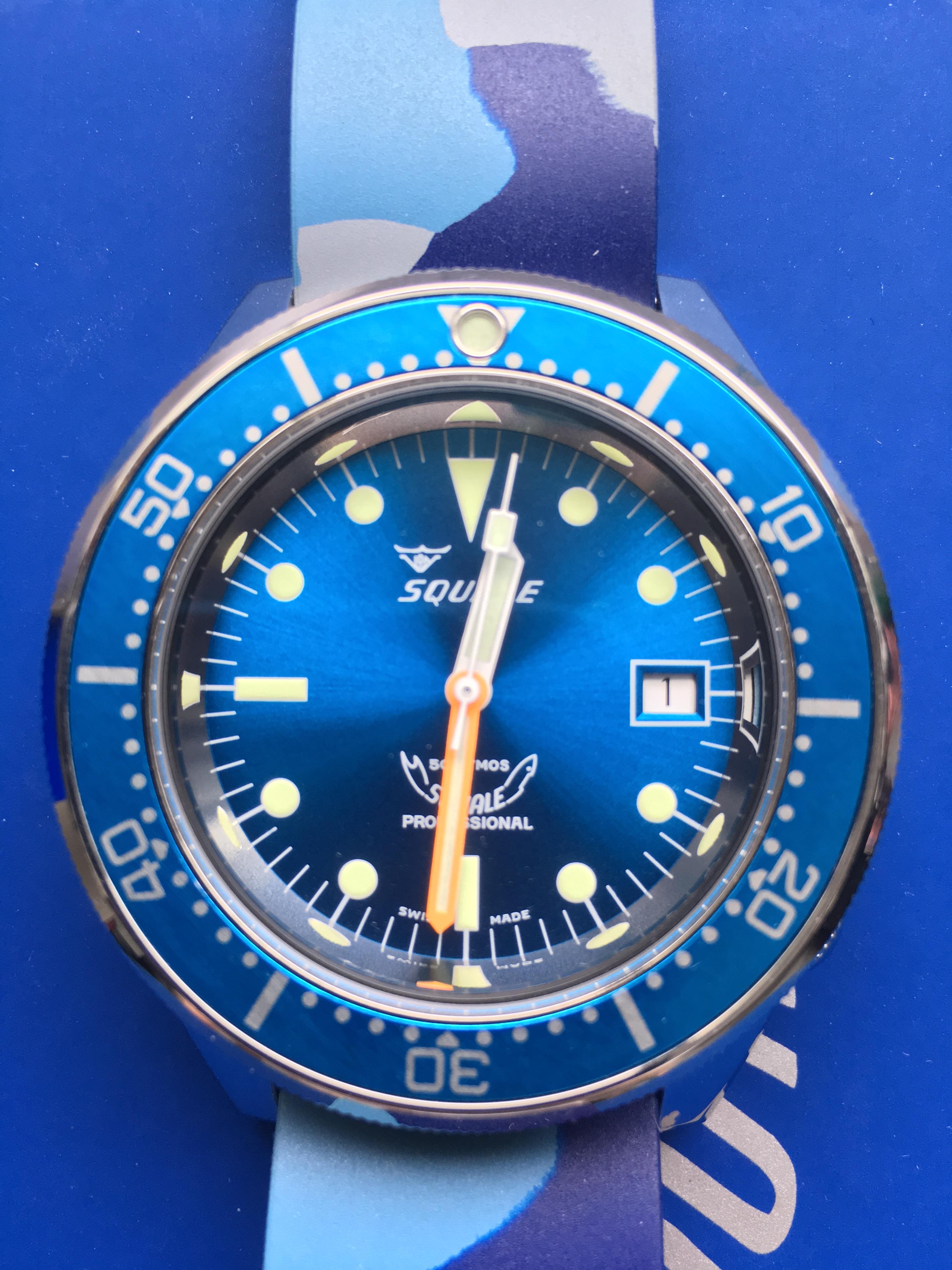 FS: Squale 1521 Polished Blue