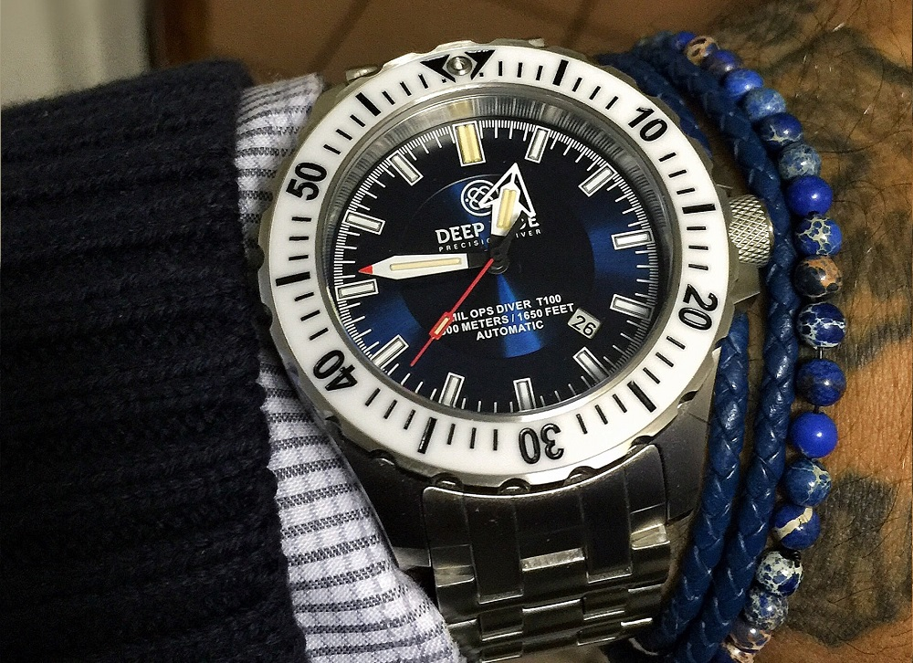 Deep blue s new daynight mil ops tritium t 100 diver for Tritium dive watches
