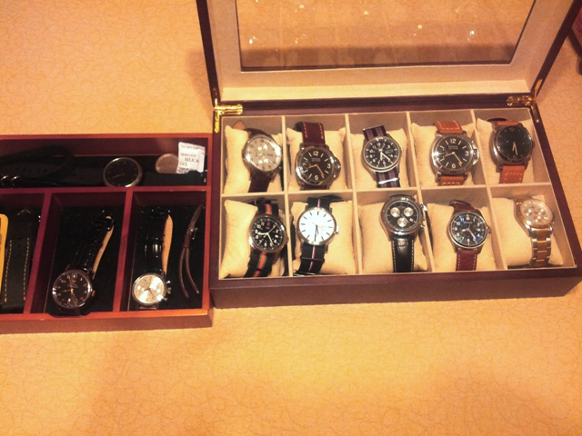 What Does Your Watch Desk  Drawer  Case  Display Currently