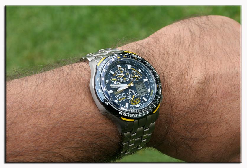Citizen 西铁城 蓝天使空中之鹰系列 航空腕表 钛金属 光动能 六局电波 世界时间 万年历 JY0050-55L-奢品汇 | 海淘手表 | 腕表资讯