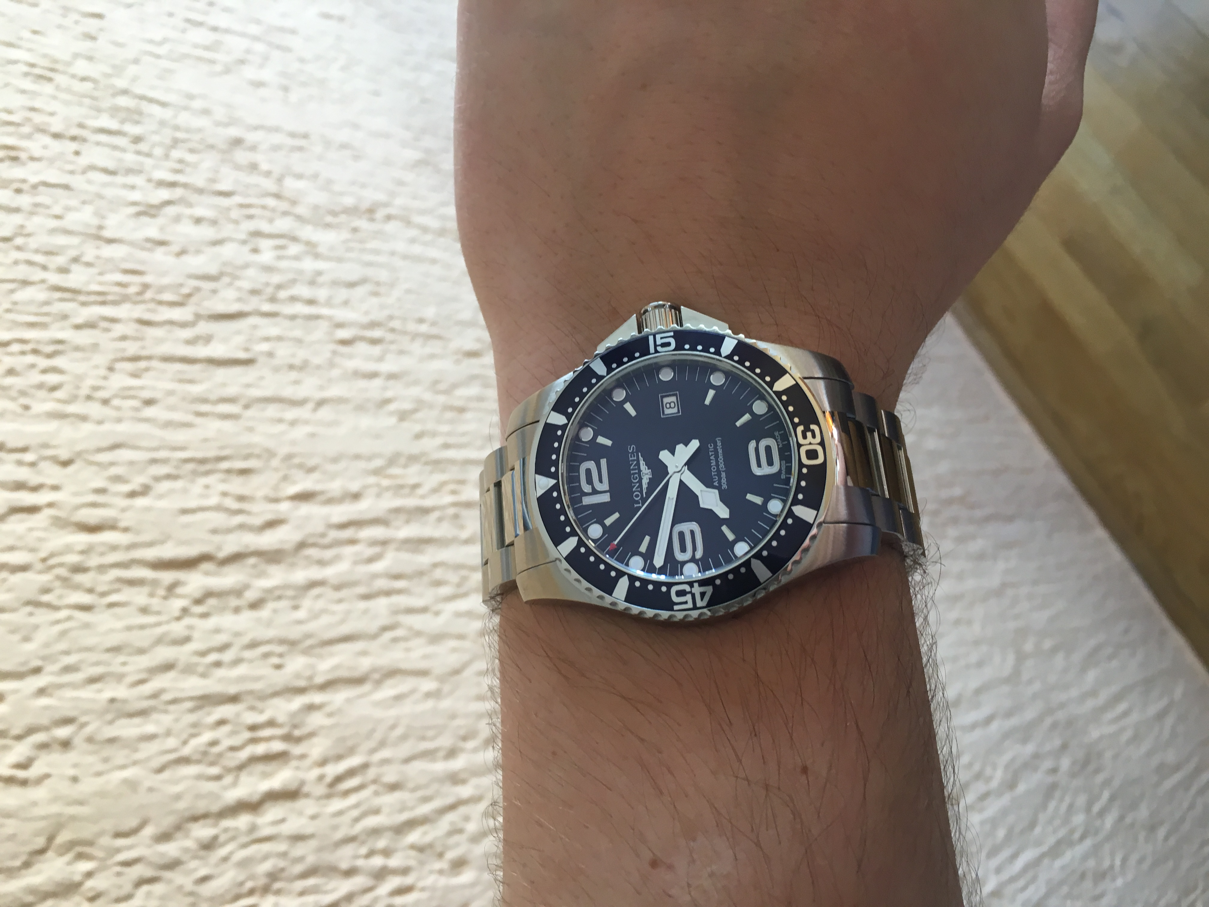 Longines Hydroconquest Automatic >> My new 2017 Longines HydroConquest 44mm automatic