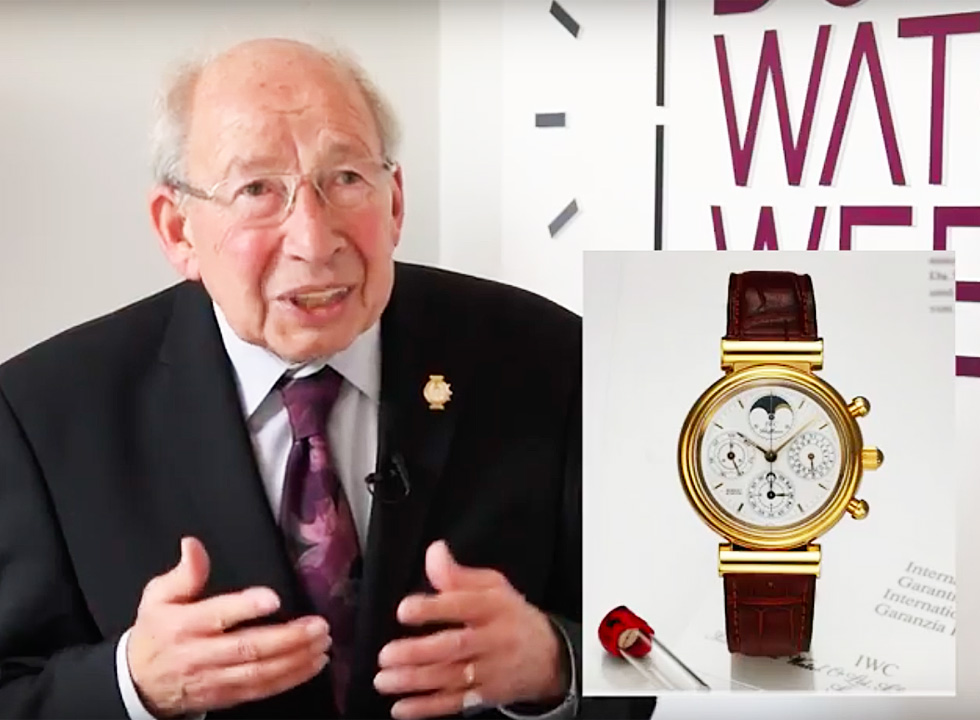 Watchmaker Kurt Klaus Recounts the History of the IWC Perpetual Calendar