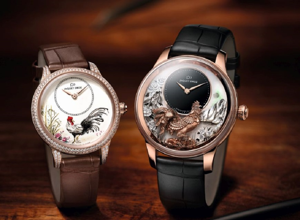 Jaquet Droz Petite Heure Minute Relief Rooster & Petite Heure Minute Rooster
