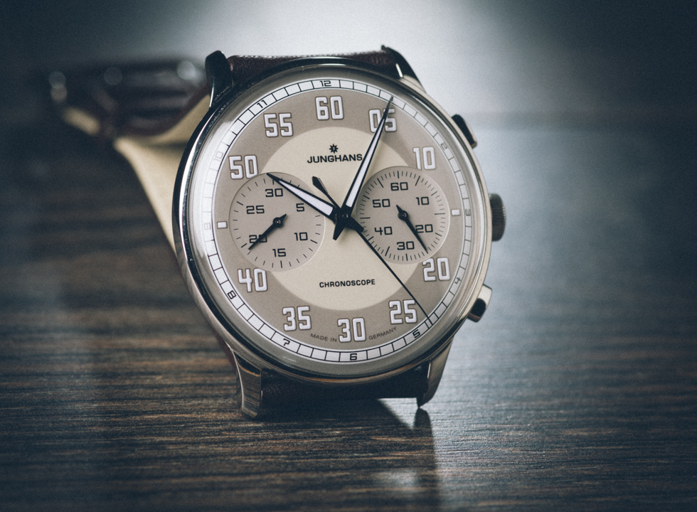 In this in-depth Junghans Meister Driver Chronoscope Review review, Watchuseek's Scott Sitkiewitz looks at this German made chrono with the stunning sand colored effect lacquer dial.