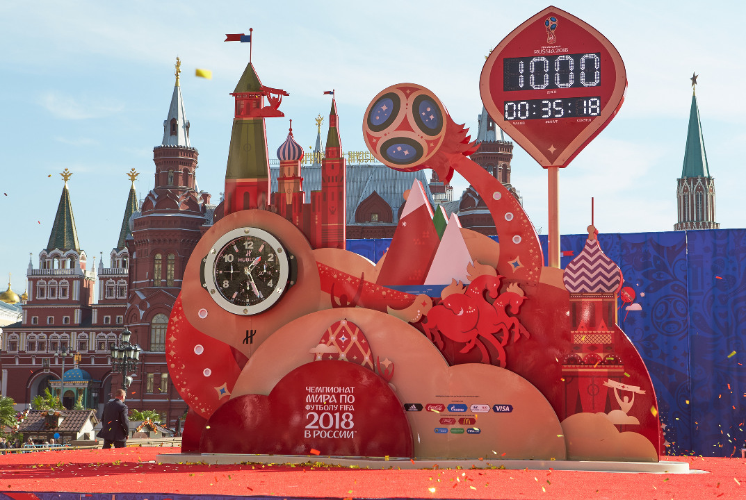 Hublot Unveils Official '1000 Days to Go' Countdown Clock for Russian World Cup