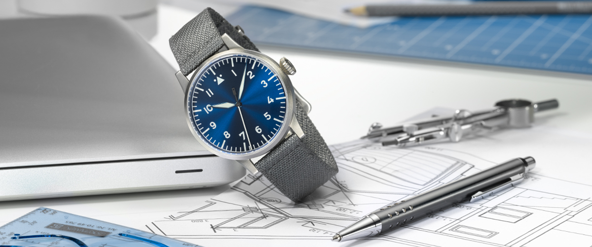 heat blued steel hands for ETA 2824 automatic Big Pilot Aviator Fliegeruhr