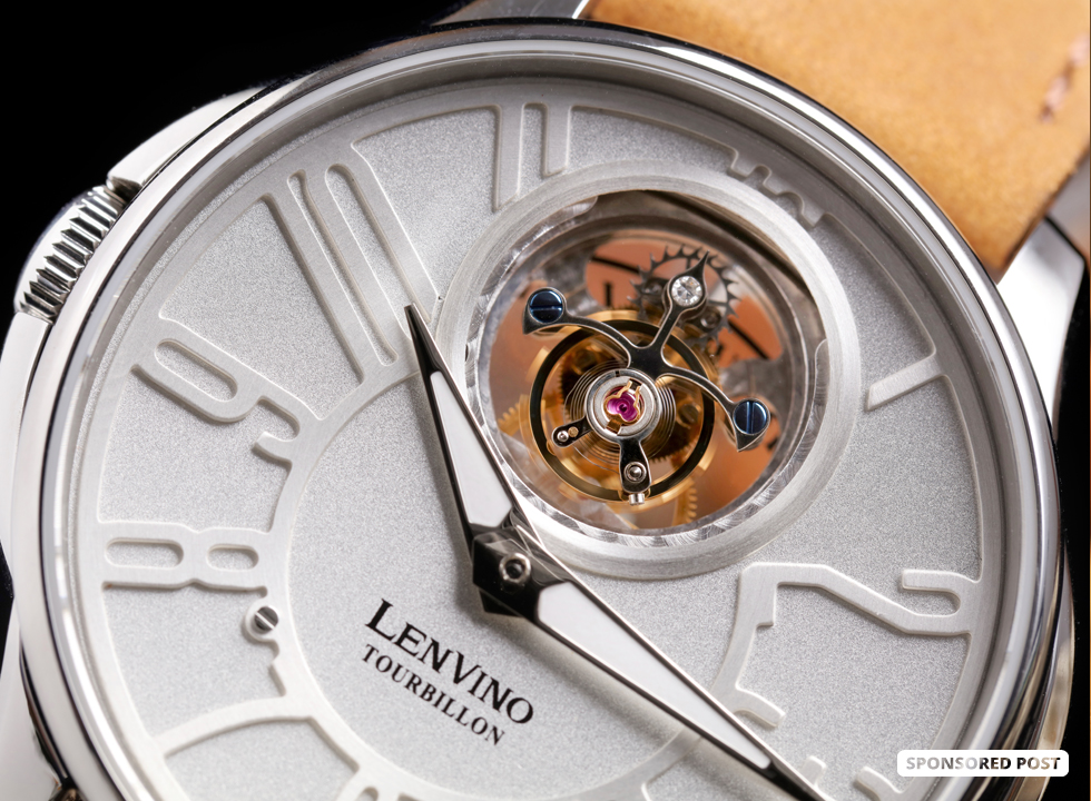 Lenvino Twelve O' Clock Real Flying Tourbillon