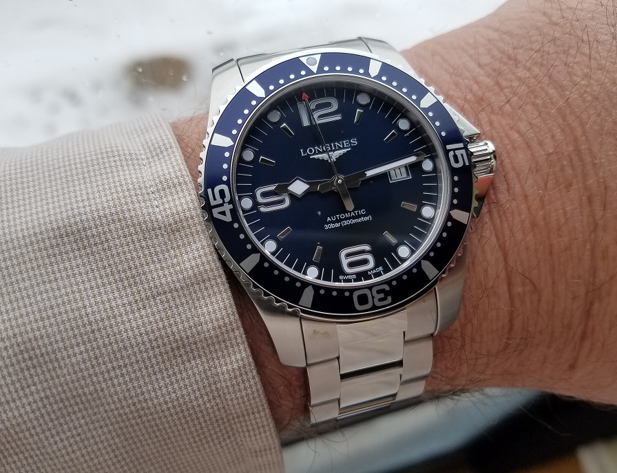 Name:  Longines Hydroconquest on wrist 11-11-19.jpg