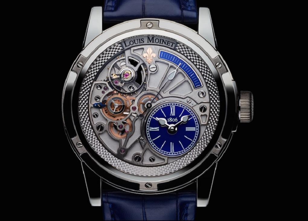 Louis moinet 39 deep blue 39 20 second tempograph for Louis moinet watch