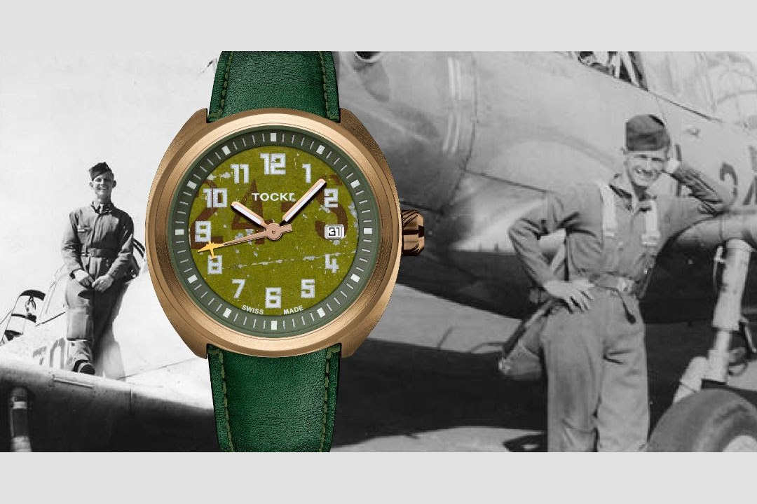 """Tockr 75-Piece Limited Edition D-Day C-47 """"Alfred Pepper"""" Bronze Watches"""