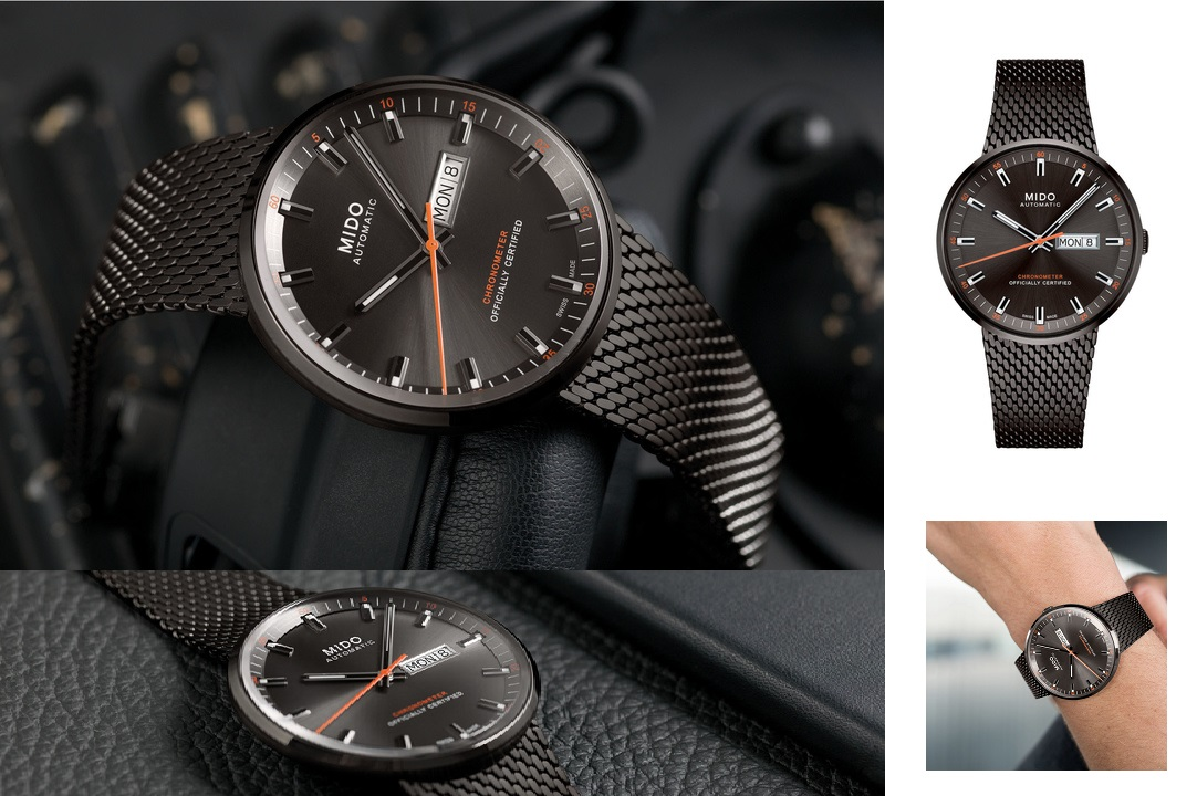 Mido Commander Icône In Anthracite PVD