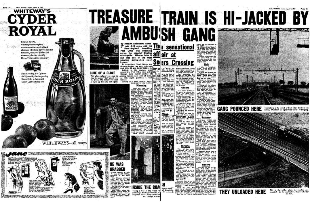 Name:  Newspaper article describing the Great Train Robbery.jpg Views: 5379 Size:  238.0 KB