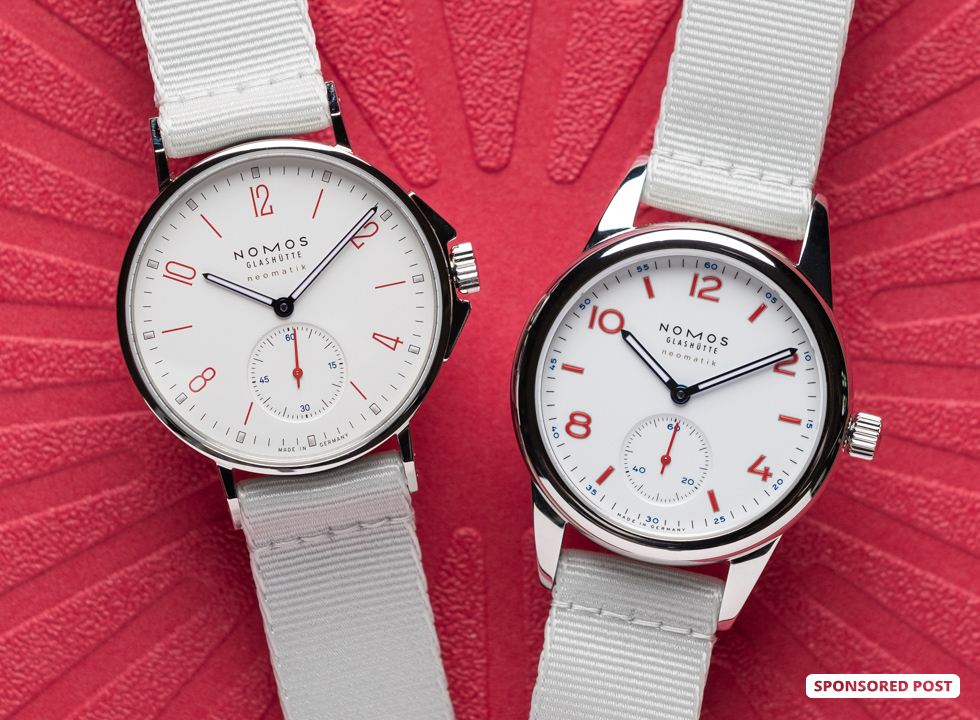 In this unboxing video we get a first look at two new watches from an esteemed German watchmaker, the Nomos Glashütte Ahoi neomatik siren white and the Nomos Glashütte Club neomatik siren white from its popular Aqua collection—just in time for summer holiday season.