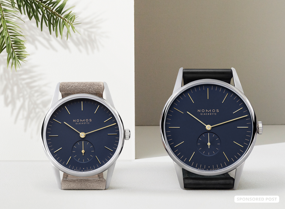 NOMOS Glashütte has truly kicked into holiday mode with the introduction of the brand new and tastefully sparkly Orion 33 and Orion 38 Midnight Blue