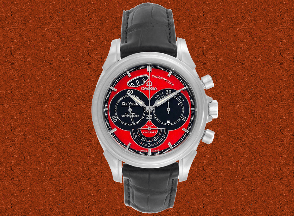 Omega DeVille Chronoscope Co-Axial Red Dial Chronograph